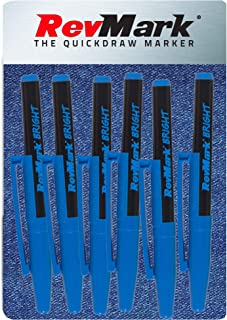 product image for RevMark Bright Series Industrial Marker - 6 Pack - Made in USA - Replaces paint marker for metal, pipe, pvc - LIGHT BLUE