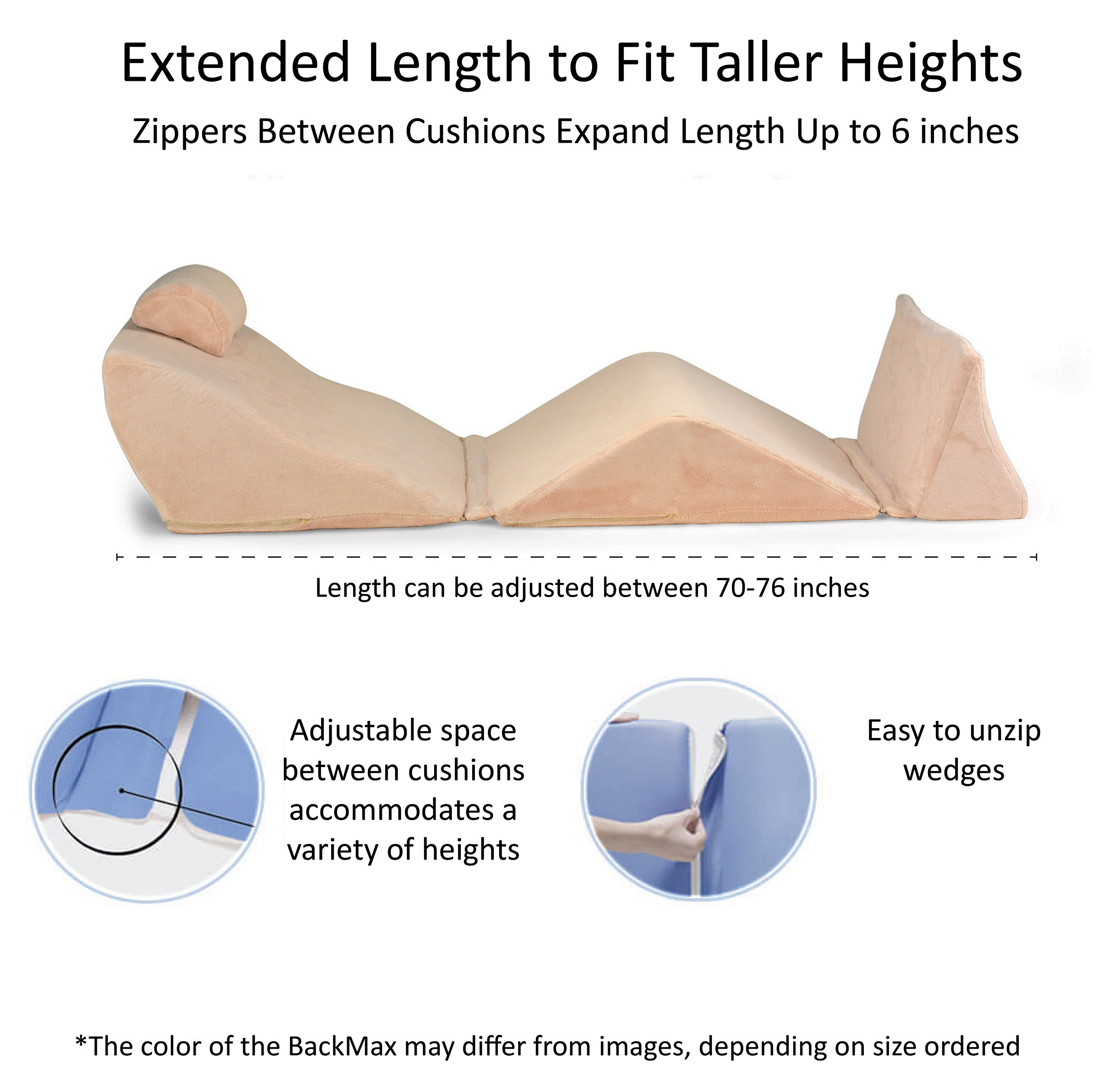 Contour Products BackMax Full Body Foam Bed Wedge Pillow System, Plus 2.0 by Contour (Image #7)