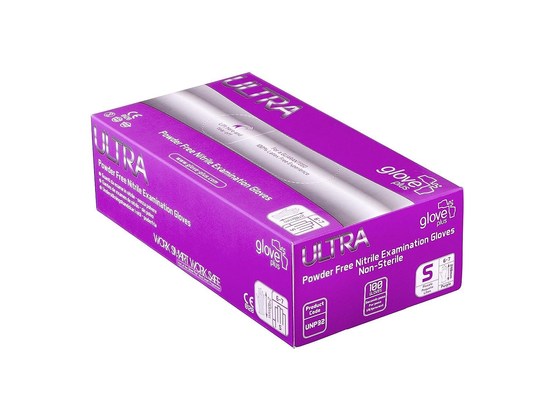Handschuh Plus Ultra Ultra puderfrei Nitril Untersuchungshandschuhe 100Handschuhe, Large, Violett