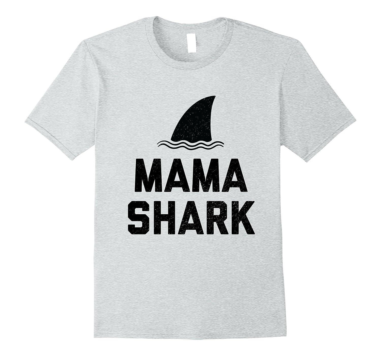 981c2f56 Mama Shark Fin Best Mom Distressed Shirt-PL – Polozatee