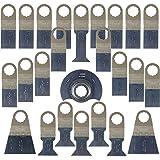 25 x SabreCut SCK25A Mix Lames pour Fein SuperCut et Festool Vecturo outil multifonctions oscillant Outil Accessoires