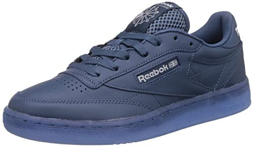 d64e1ecac5340 Reebok Classics Men s Club C 85 Ice Brave Blue and White-Ice Leather Tennis  Shoes