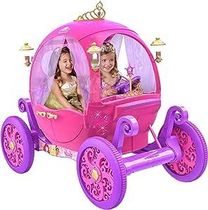 24 Volt Rechargeable Disney Princess Pink Carriage,Can Fit 2 Children