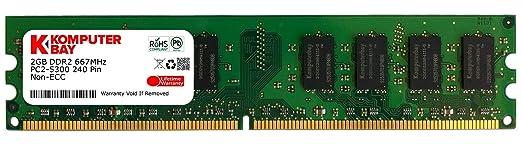 568 opinioni per Komputerbay 2GB DDR2 667MHz PC2-5300 PC2-5400 DDR2 667 (240 PIN) DIMM Memoria