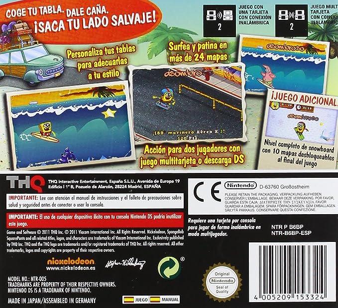 Bob Esponja Surf & Skate: ¡Vacaciones!: nintendo ds: Amazon.es: Videojuegos