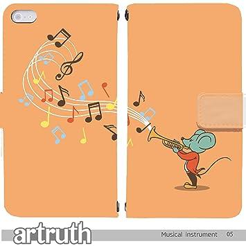 7db1b8d504 Musical instruments 手帳型 iPhoneSE (iPhone SE) iphoneSE(G008301_05) 専用 楽器  トランペット