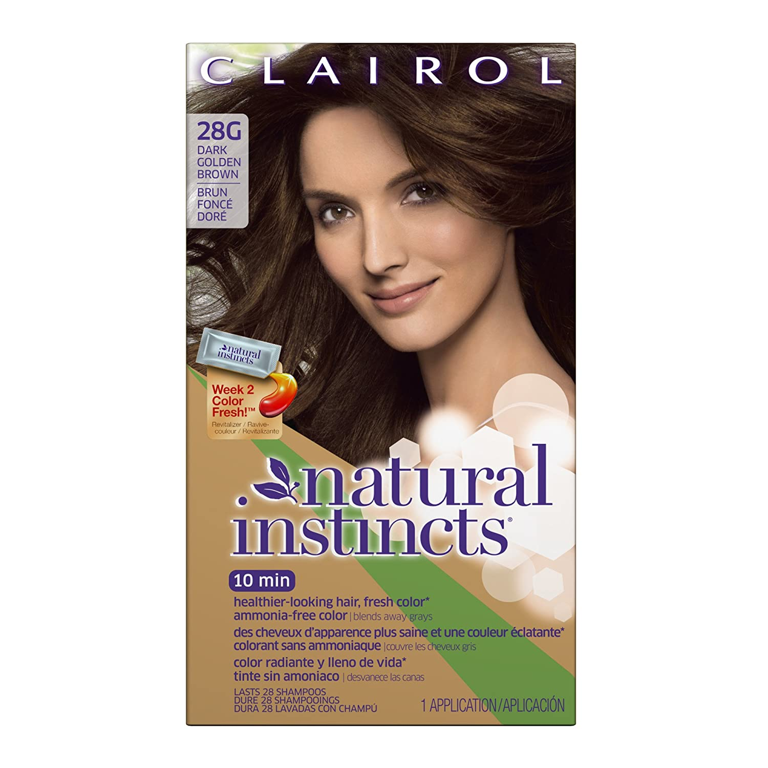Amazon clairol natural instincts hair color 28g golden amazon clairol natural instincts hair color 28g golden cappuccino dark golden brown 1 kit pack of 3 chemical hair dyes beauty geenschuldenfo Gallery