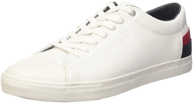 Herren D2285INO 1A Sneaker, Weiß (White), 44 EU Tommy Hilfiger