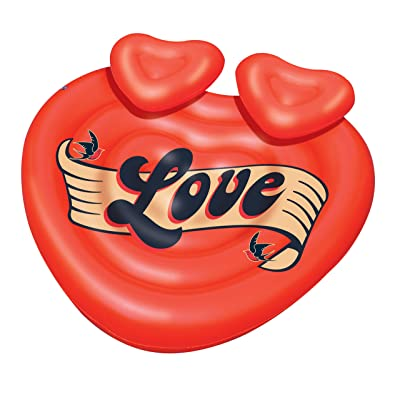 Swimline Heart Tattoo Island Pool Float: Toys & Games