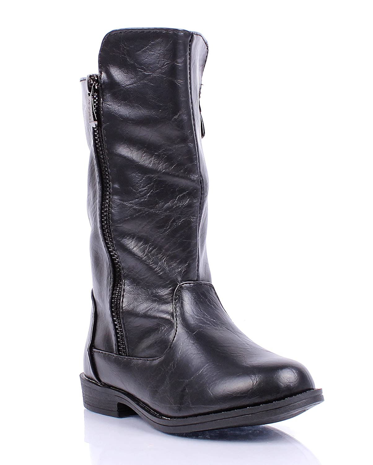 weyoh Fashion New Zip Open Preschool Faux Fur Inte Buckle Girls Kids Youth Mid-Calf Boots New Without Box