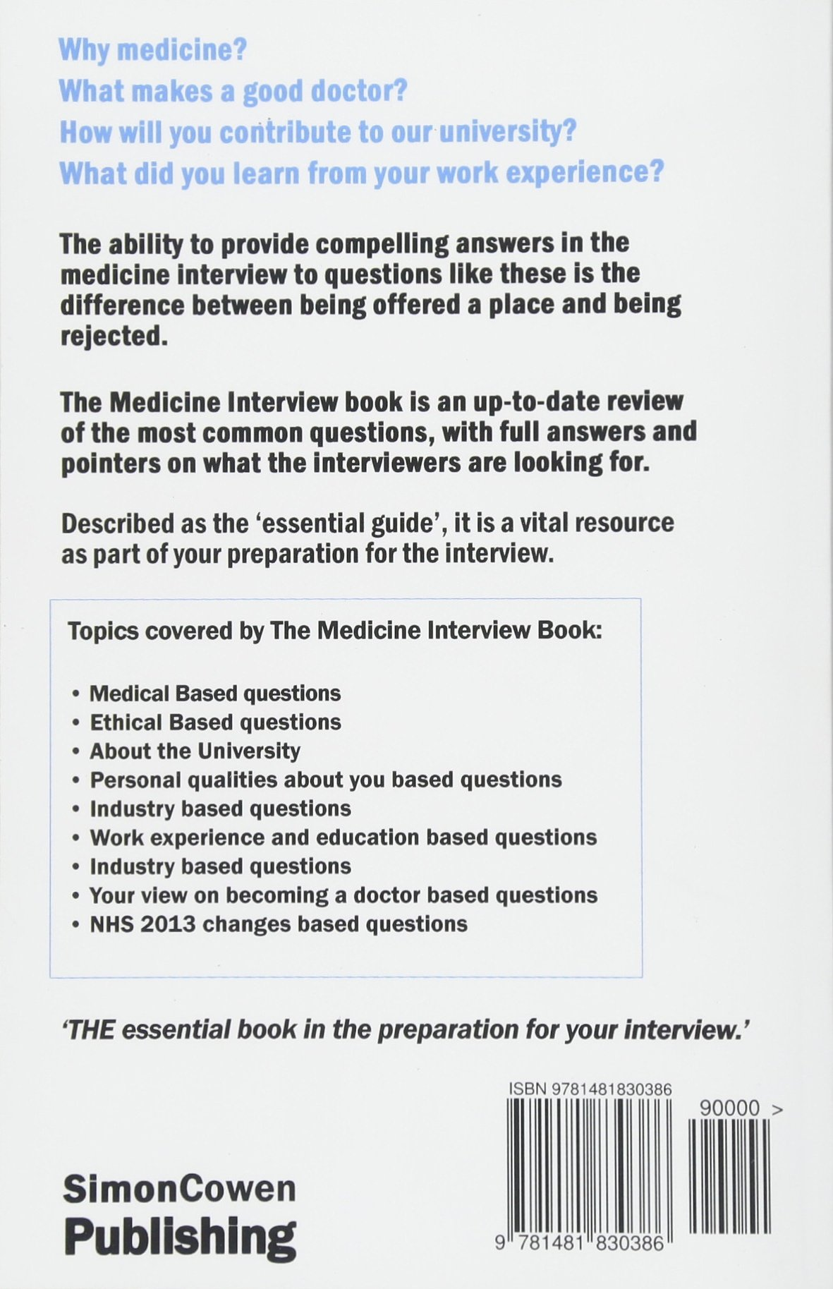 Medicine Interview Questions And Answers With Full Explanations The