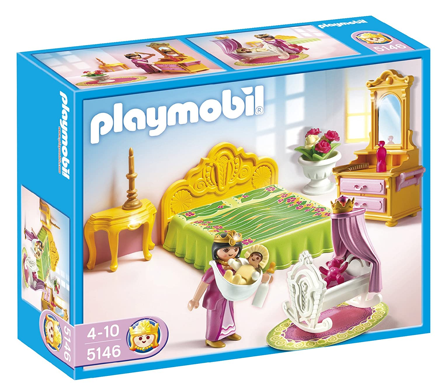 playmobil 5146 princess bed chamber with cradle