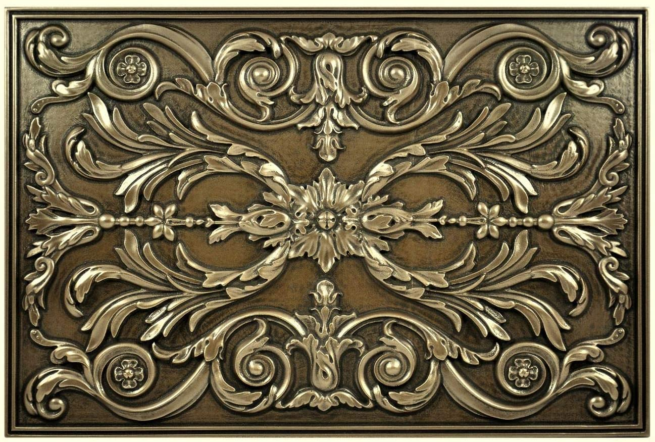 - Kitchen Backsplash Premium Bronze Metal Resin Mural Medallion Hand