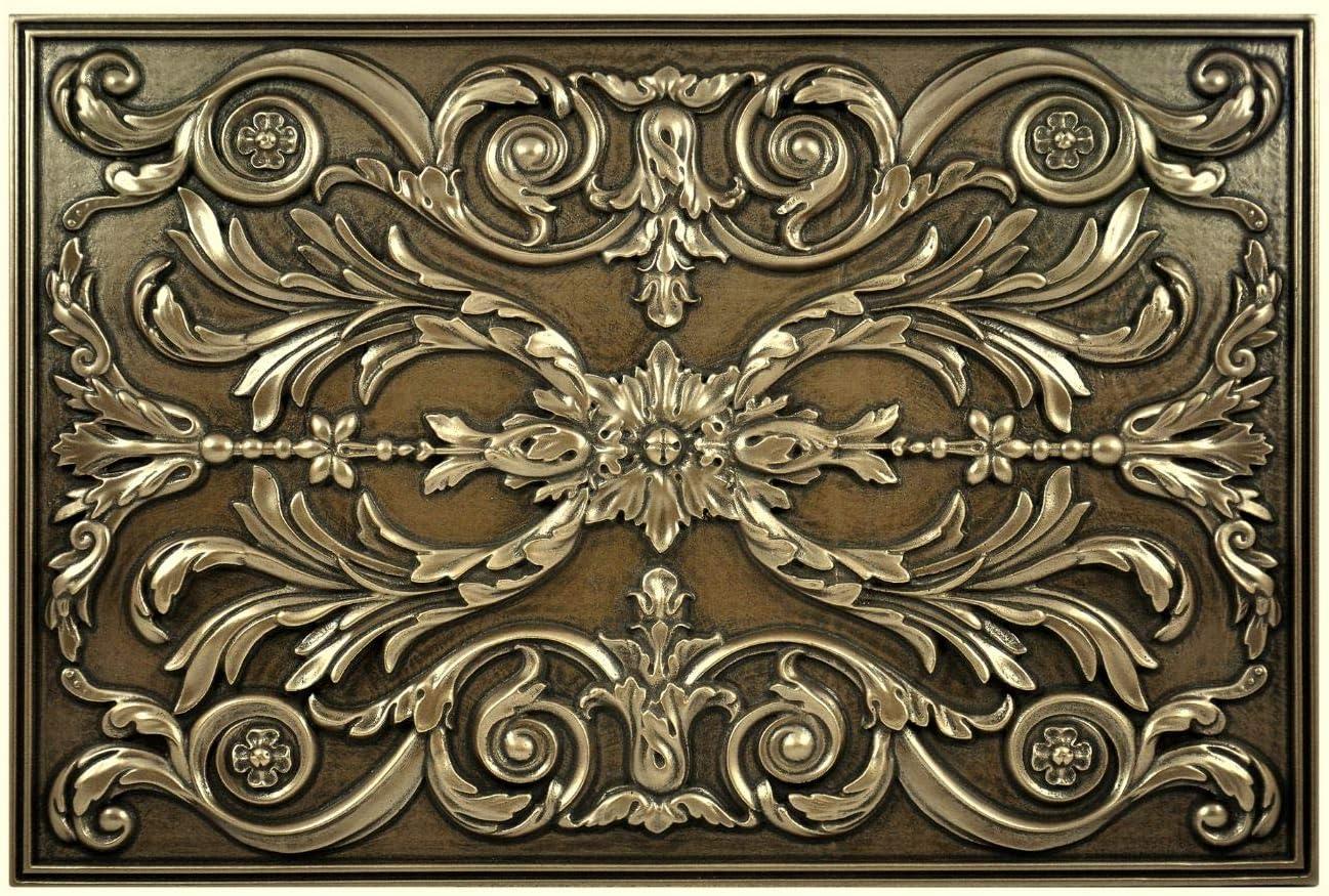 - Kitchen Backsplash Premium Bronze Metal Resin Mural Medallion Hand