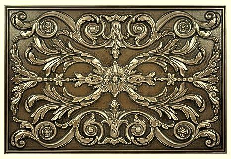 Kitchen Backsplash Premium Bronze Metal Resin Mural ...