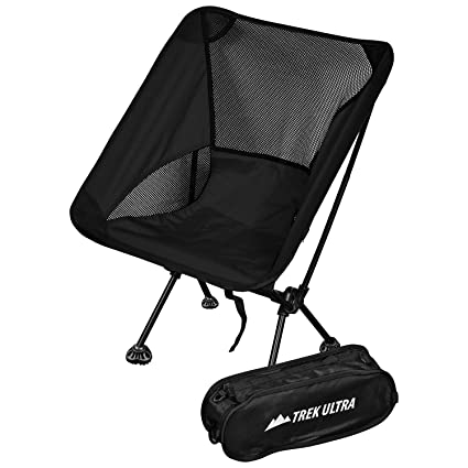 TrekUltra Camping Fold Up Chairs With Bag   Portable Lightweight Heavy Duty  Compact   Great For