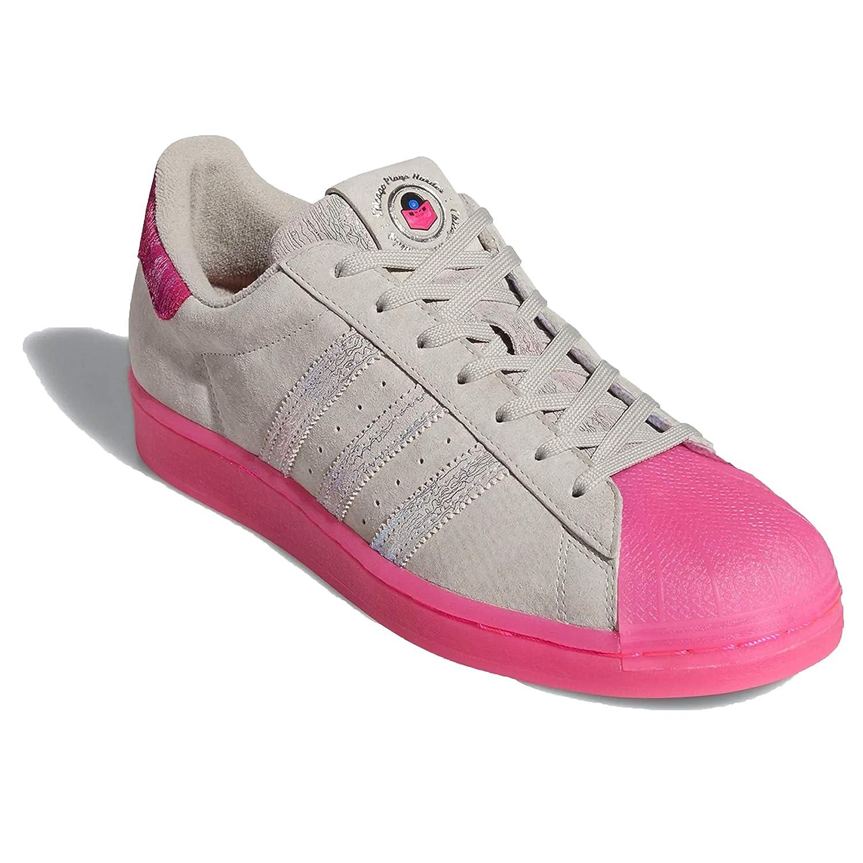 aeronave Especificidad Preguntarse  Buy Adidas ORIGINALS Women's Superstar Sneaker (Metal Grey/Shock Pink/Blue,  Numeric_9) at Amazon.in