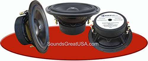 6.5 CDT Audio HD-6MDVC Dual 4 Ohm Audiophile Subwoofers can be wired for 2 Ohms