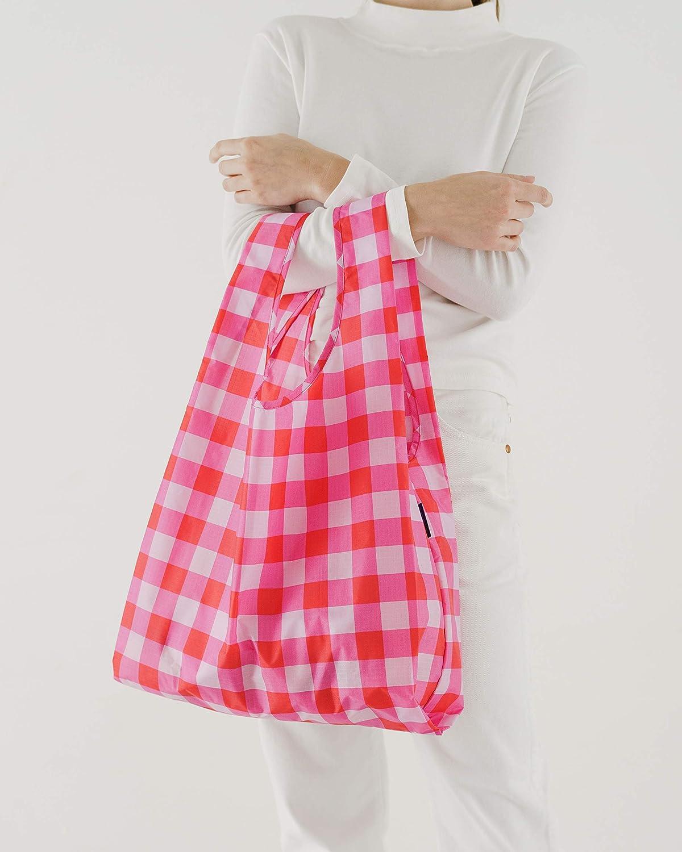 Leisure Stripes Eco-friendly Ripstop Nylon Foldable Grocery Tote BAGGU Standard Reusable Shopping Bag 3-Pack