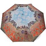 Parapluie Pliant Art pour Femme Motif Coquelicots Claude Monet + Rosemarie SCHULZ