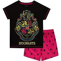HARRY POTTER Pijamas de Manga Cortapara Niñas Hogwarts