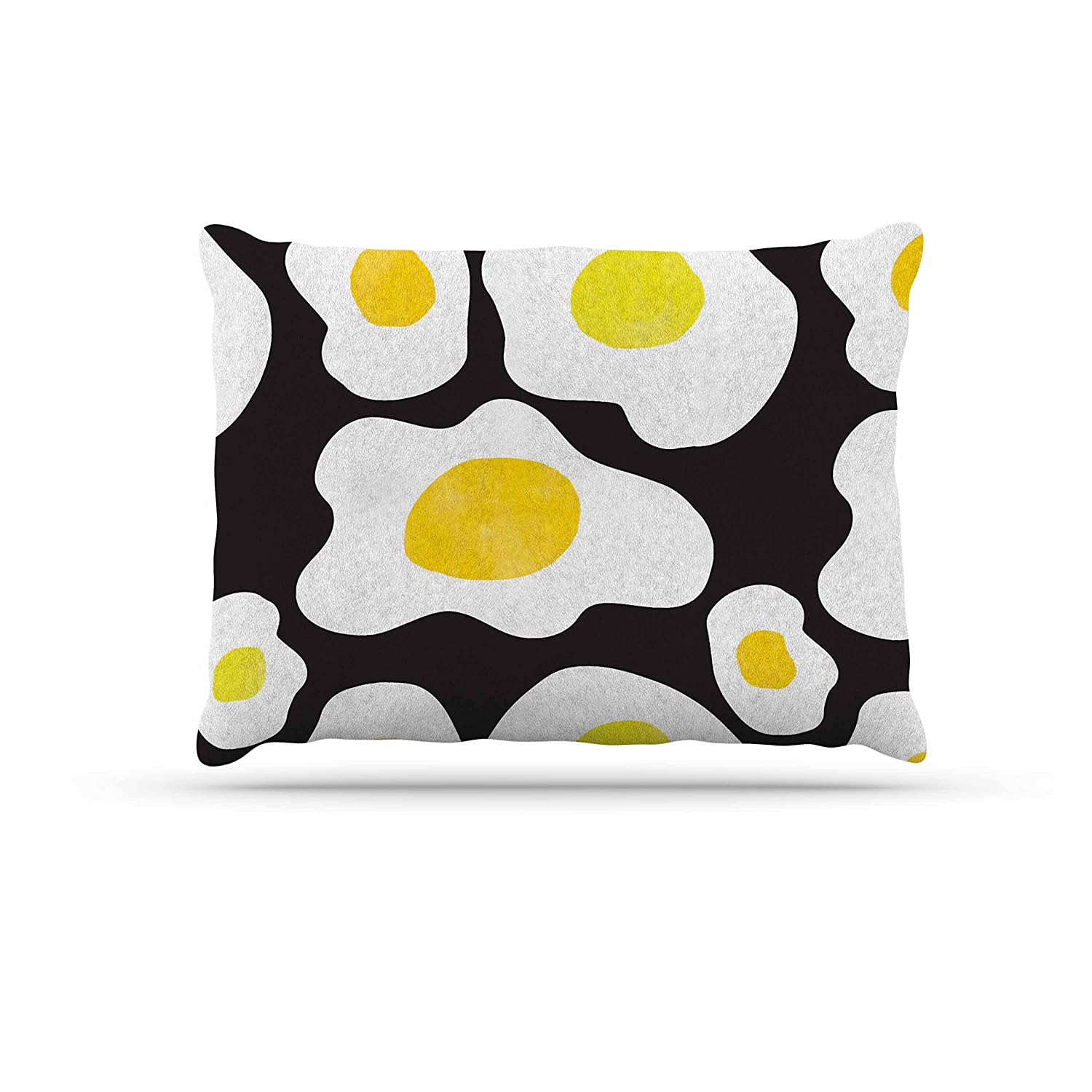 KESS InHouse Vasare NAR Fried Eggs Pattern Yellow Pop Art Dog Bed, 50  x 40