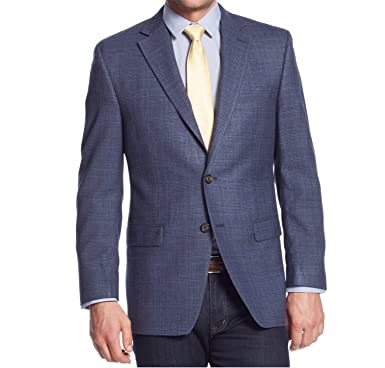 Ralph Lauren Navy Plaid Silk & Wool Two Button New Men's Sport ...