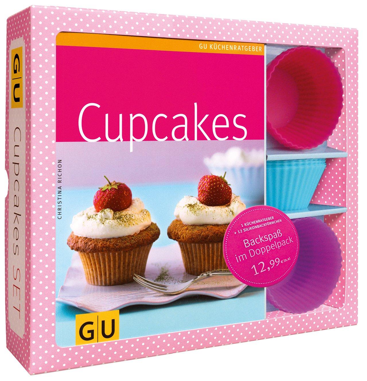 Cupcakes-Set: Mit 12 Silikonbackförmchen (GU BuchPlus) Christina Richon GRÄFE UND UNZER Verlag GmbH 3833822929 Backen