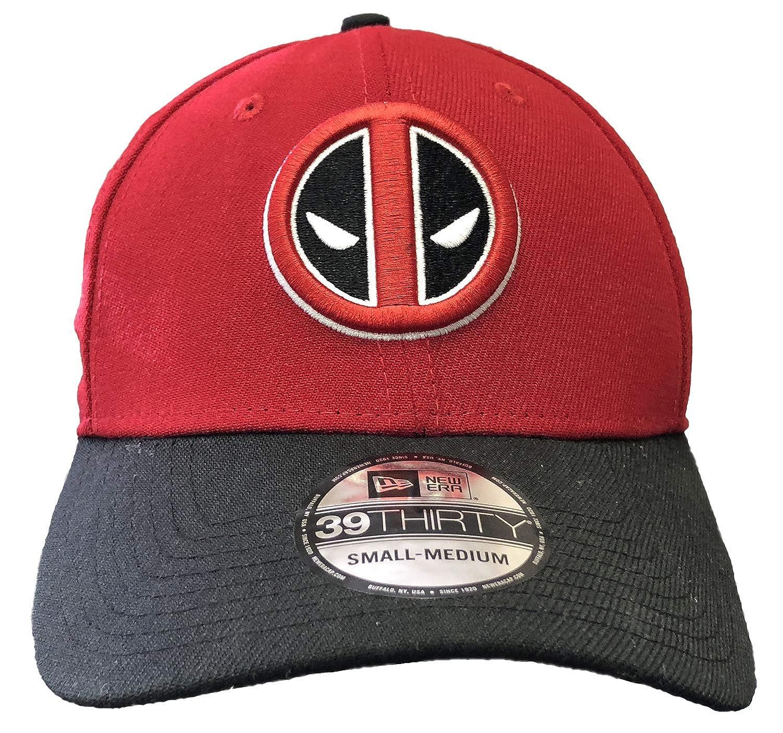 New Era Deadpool Symbol Scarlet   Black 39Thirty Cap Hat- Small Medium at  Amazon Men s Clothing store  d97cb2e0e75