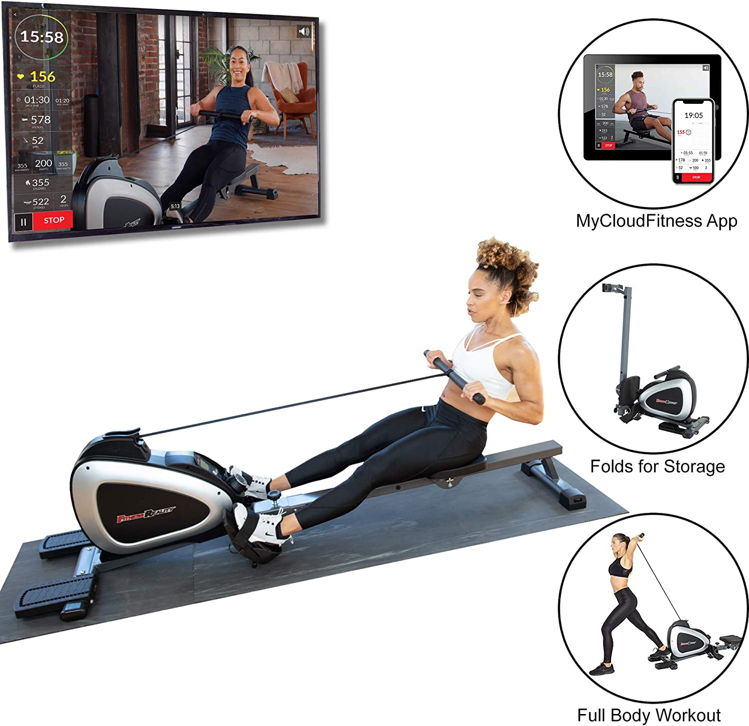 Bluetooth Magnetic Rower Rowing Machine