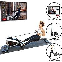Fitness Reality 1000 Plus Máquina de remo magnética Bluetooth con ejercicios de cuerpo completo y aplicación gratuita
