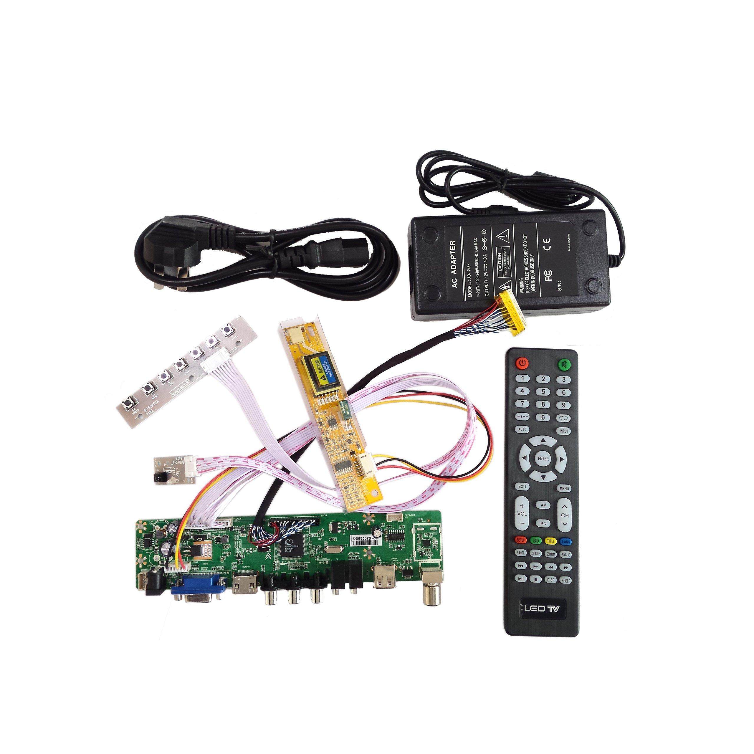 TV+HDMI+VGA+AV+USB+AUDIO LCD Controller Board for 15.4 Inch LP154WX4-TLC5 1280*800