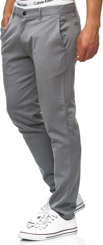 Indicode Caballeros Rodekro Pantalones Chinos Muy Elásticos   Largo Chino Pantalón con 4 Bolsillos De para Hombres Rectos Hombre Pants Cómodo Regular Fit Tela Recto Corte