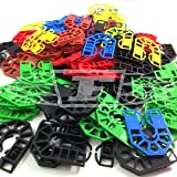 100 PLASTIC HORSESHOE PACKING SHIMS LIGHT & HEAVY WINDOW PACKER SPACER WEDGE - FREE UK DELIVERY