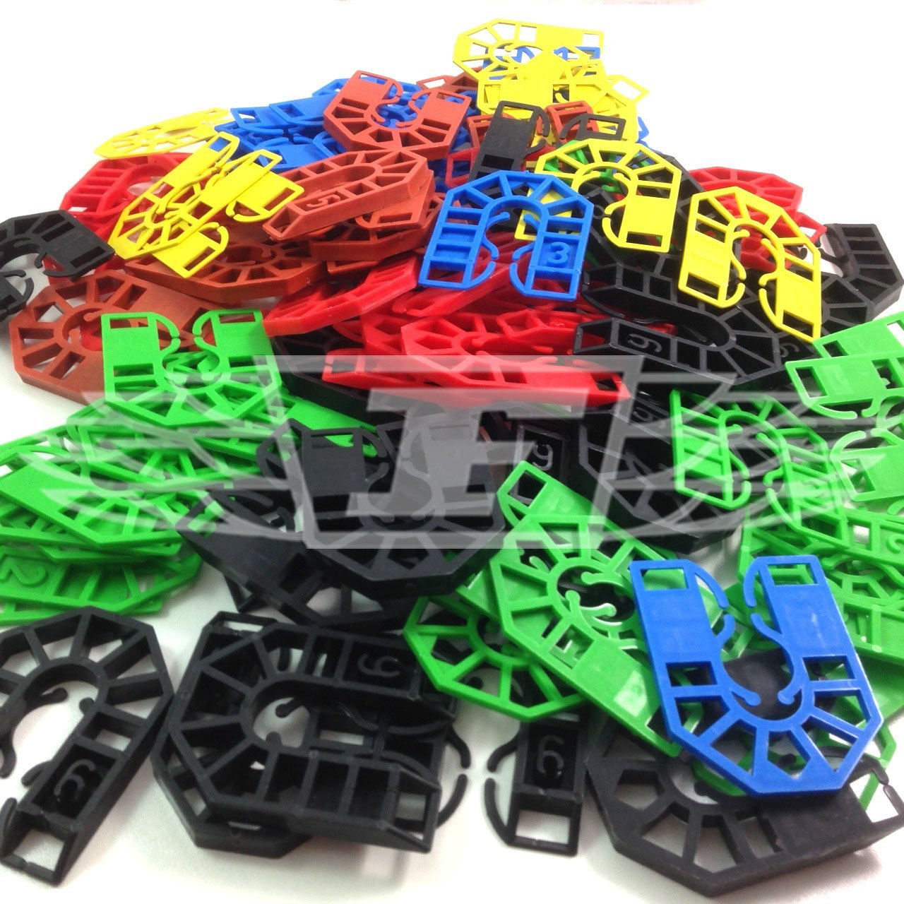 100 PLASTIC HORSESHOE PACKING SHIMS LIGHT & HEAVY WINDOW PACKER SPACER WEDGE - FREE UK DELIVERY Falcon Workshop Supplies LTD