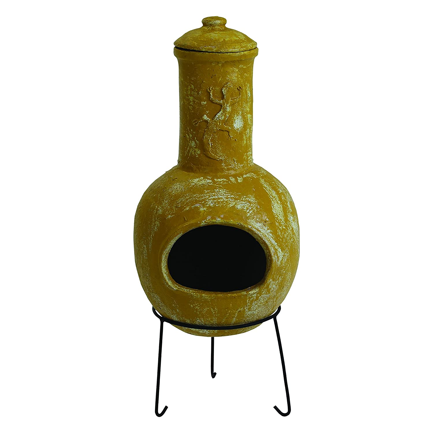 Charles Bentley Garden Outdoor Large Terracotta Clay Chiminea Mexican Chiminea Patio Heater
