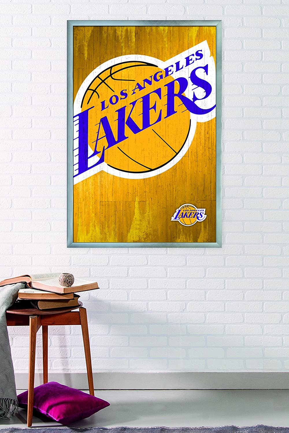Amazon.com: Trends International Los Angeles Lakers Logo Wall Poster ...