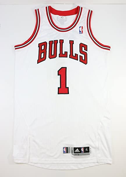 86e4329bdfb DERRICK ROSE JANUARY 3rd 2012 GAME USED WORN CHICAGO BULLS HOME JERSEY W   BULLS LOA