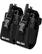 abcGoodefg® 3in1 Multi-Function Radio Holder, Holster, Case, Pouch Bag for GPS Kenwood/Yaesu/Icom MotorolaGP338+/344/328/ Baofeng BF-666S/777S/888S Two Way Radio Walkie Talkie 20C (20C-2PACK)