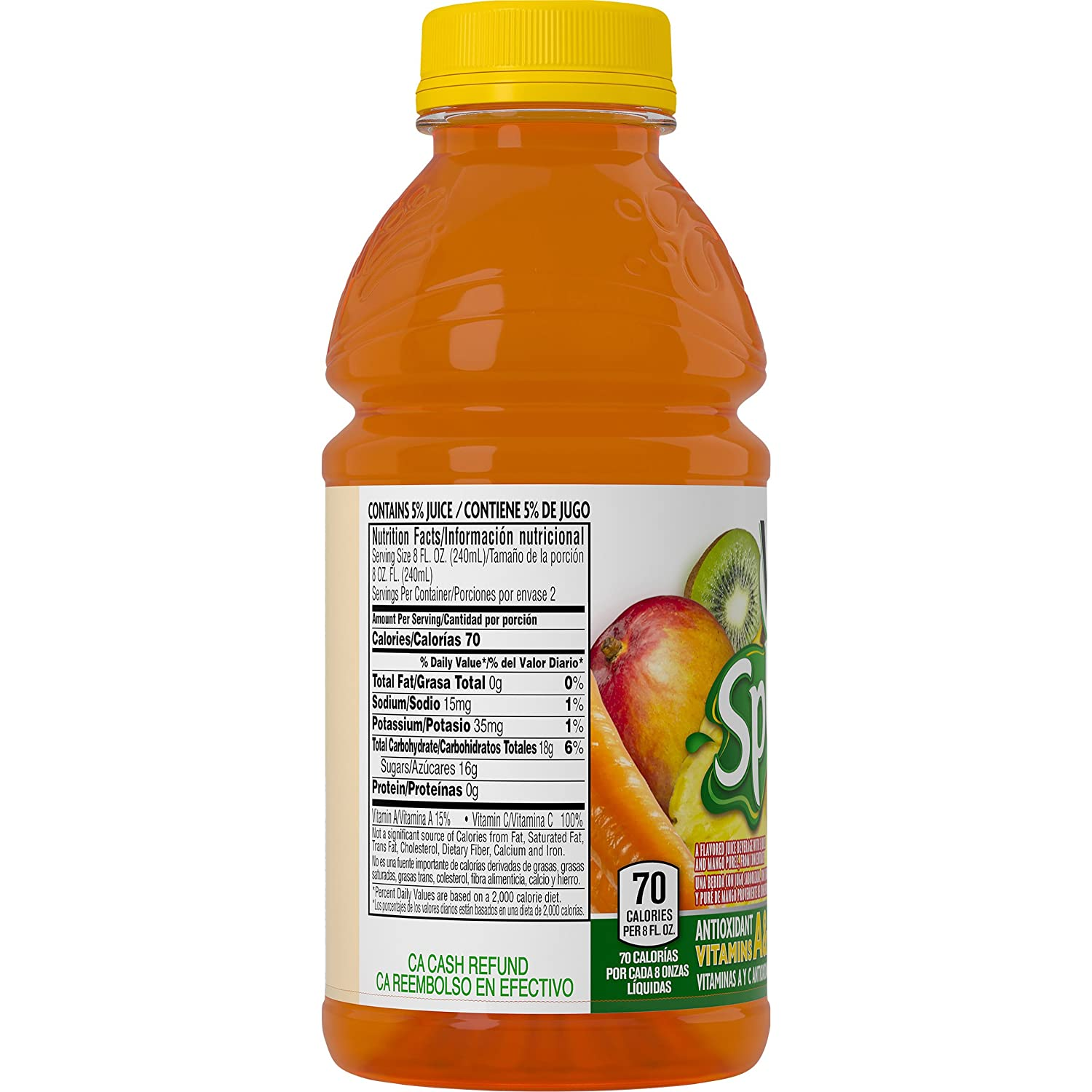 Amazon.com : V8 Splash, Tropical Blend, 16 Ounce (Pack of 24) : Juice : Grocery & Gourmet Food