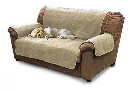 furhaven Home Muebles Protector Acolchado Microfibra Suede Slip Cover para los niños, Mascotas, Perro