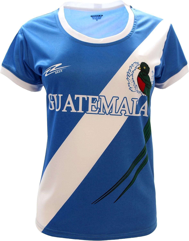 Arza Sports Guatemala Slim - Camiseta de fútbol para mujer: Amazon.es: Ropa y accesorios