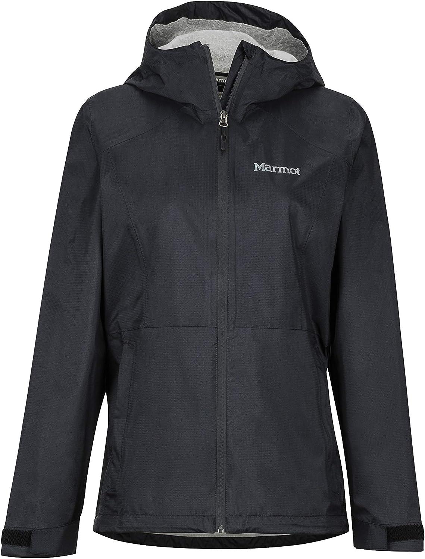 Marmotウィメンズウィメンズプレチップエコプラスハードシェルレインジャケット、レインコート、防風性、防水性、透湿性、ブラック、X-Small