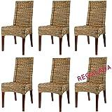 Lote 6 sillas Desna - Ratán