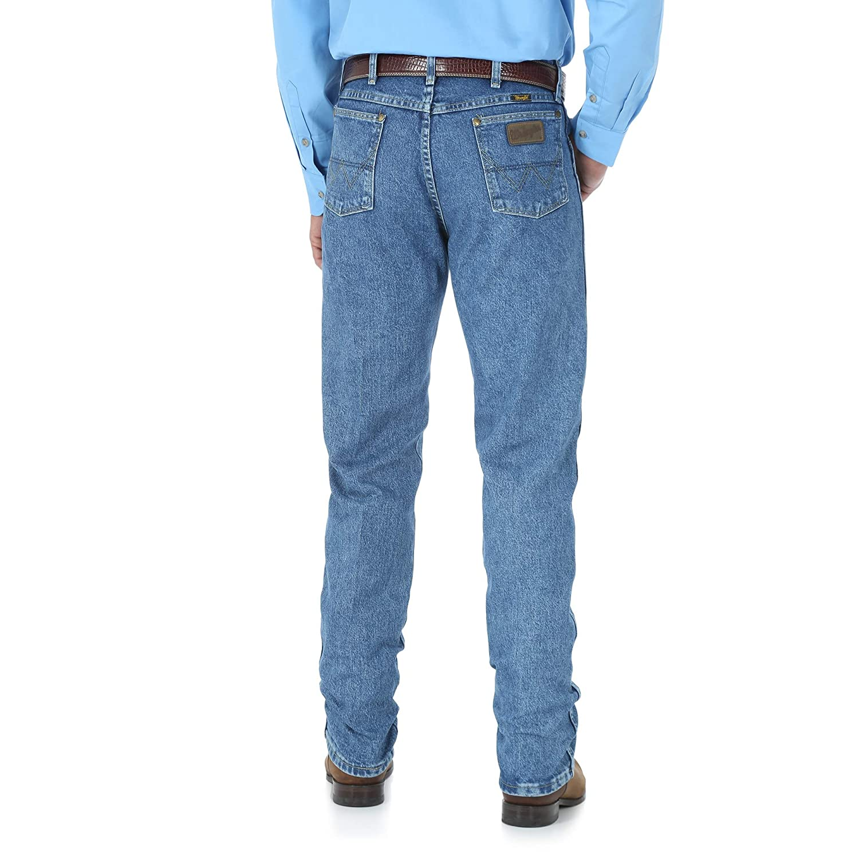 bd1ca1b50d8 Wrangler Men's George Strait Cowboy Cut Original Fit Jean, Stone Wash, 31W  x 32L