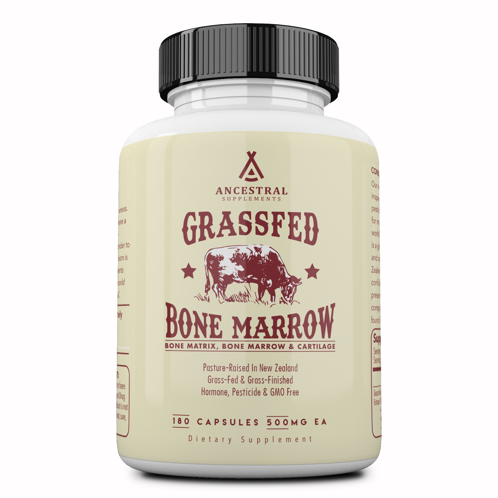 Ancestral Supplements Grass Fed Bone Marrow - Whole Bone Extract (Bone, Marrow, Cartilage, Collagen). See Other Ingredients.