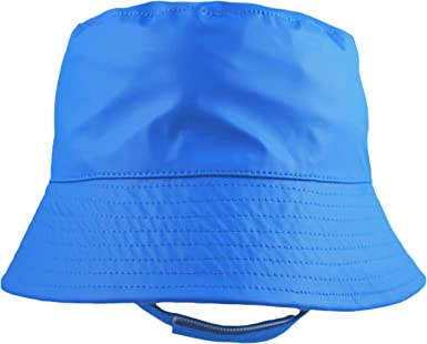 Pesci Kids Bucket Hats with Chin Strap Sun and Showerproof Rain Hat with Cotton Lining