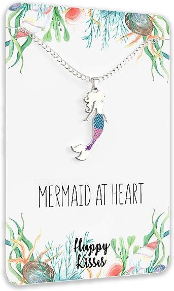 Mermaid make waves necklace mermaid charm girl gift girl empowerment gift birthday gift stainless steel inspirational mermaid jewelry