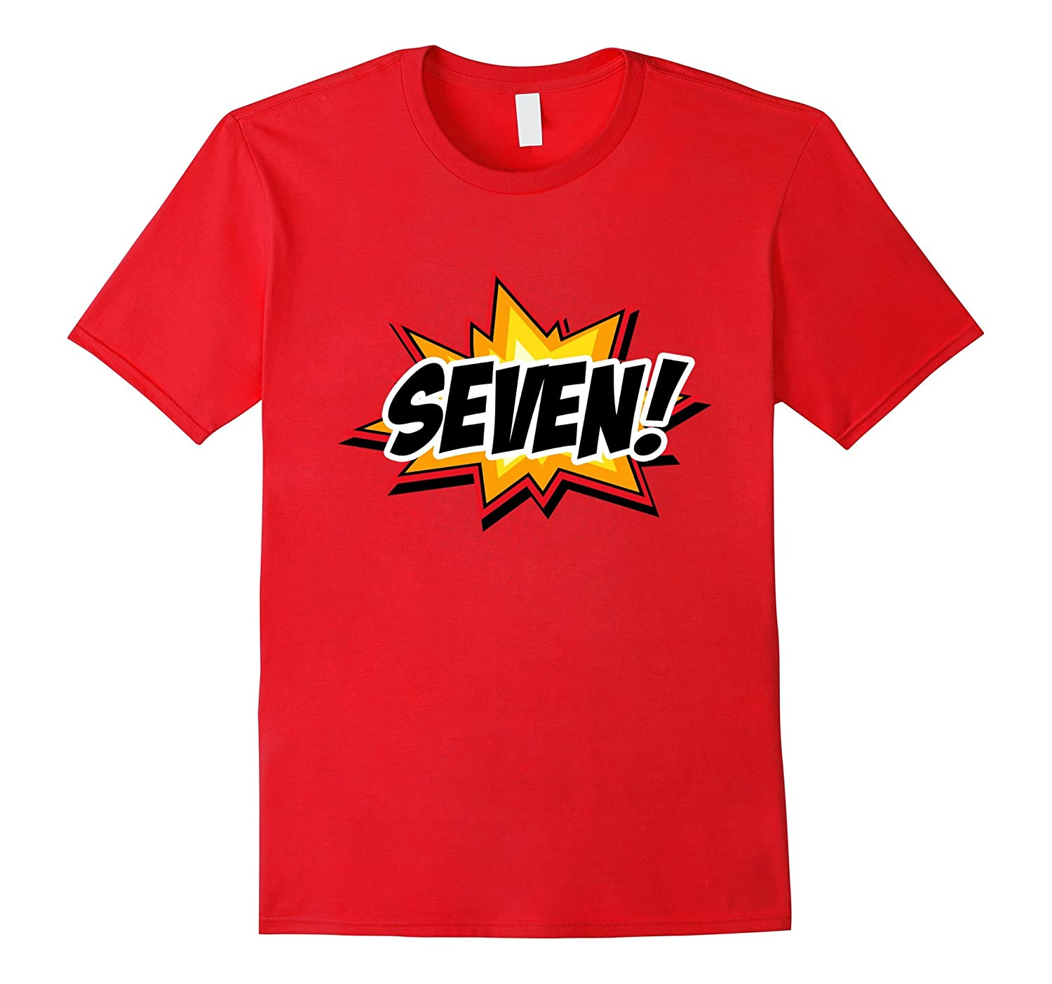 SuperHero Birthday Shirt 7 Year Old Boys And Girls ALL AGES PL Polozatee