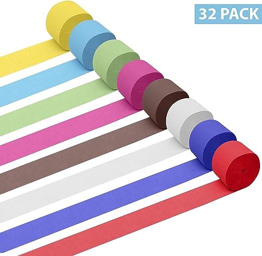Papel Crepe (Pack de 32) - Papel Pinocho 28m x 4,5cm por rollo ...